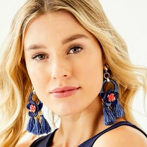 Lilly Pulitzer High Tide Maritime Earrings